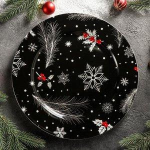 Тарелка обеденная Magistro «Новый Год. Зимняя сказка», d=25,3 см