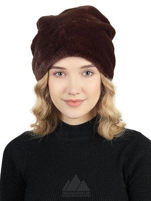 Модная шапка эко-мех под кролика REXХейли