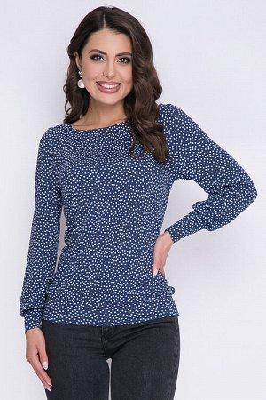 Блузка Блузка из трикотажного полотна.  Cостав: 30% вискоза 65% п/э,5% эласта