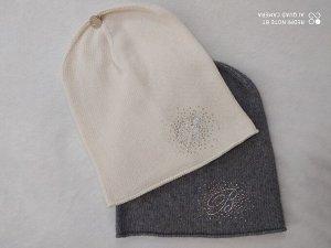 Шапки Blanca Italia, цвет серый и молочный