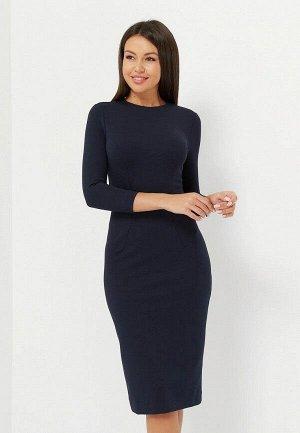 Платье-футляр, темно-синее