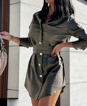 Платье Платья с поясом  Ткань Эко-кожа ( не пропитка !!! ) Качество Люкс