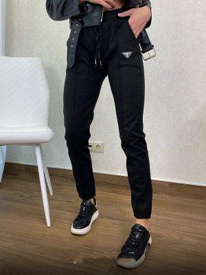 Кашемировые брюки, шов спереди