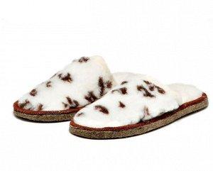 Тапочки из овечьей шерсти на войлочной подошве