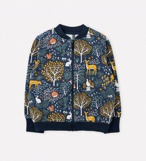 Куртка для девочки Crockid КР 301514 индиго, лес к307