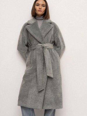 Пальто из экомеха R087/zella