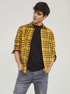 XSIDE Приталенная фланелевая рубашка дровосека с длинным рукавом