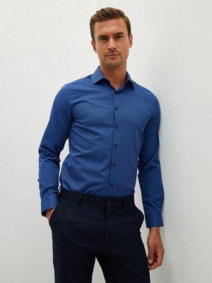 LCW FORMAL Приталенная мужская рубашка из габардина с длинным рукавом