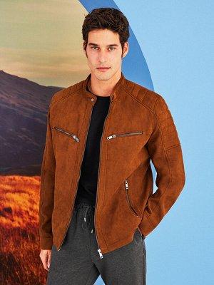 Куртка-косуха мужская из искуственной замши
