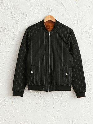 Легкая короткая куртка с воротником-стойкой