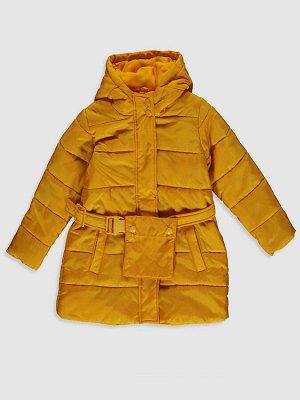 Пальто для девочки с капюшоном