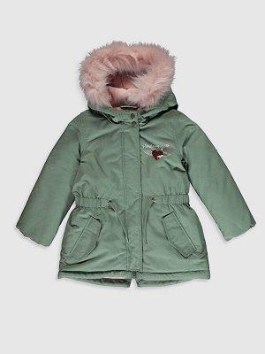 Зимняя куртка с капюшоном для девочек