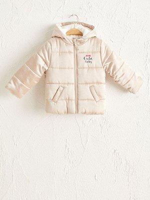 Короткая куртка с капюшоном для малышей-девочек