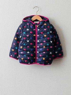 Куртка для девочки с капюшоном