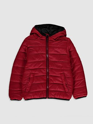 Дутая куртка с капюшоном для мальчиков
