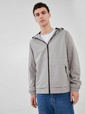Тонкое мужское пальто Slim Fit с капюшоном