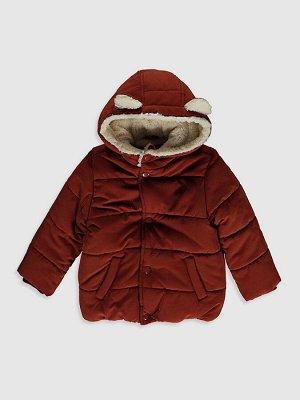 Короткое пальто для малышей-мальчиков с капюшоном