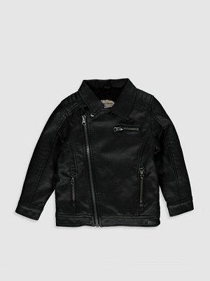 Куртка из эко кожи для малышей-мальчиков
