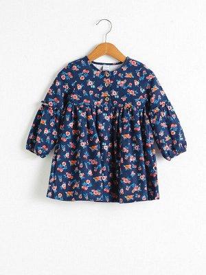 Платье для малышей-девочек с принтом
