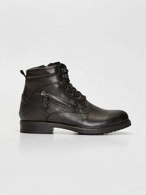 Мужские кожаные ботинки на молнии