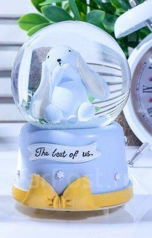 """Снежный стеклянный шар """"Мимишный зайка"""