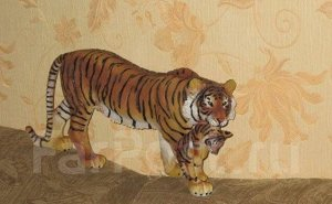 """Шикарная статуэтка """"Тигрица с тигренком"""", ручной работы, символ 2022г"""