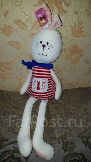 Мягкая игрушка Заяц, отл. подарок к любому празднику