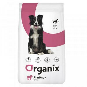 """Сухой корм ORGANIX ADULT DOG LAMB для взрослых собак всех пород, склонных к аллергии, """"Ягненок"""""""
