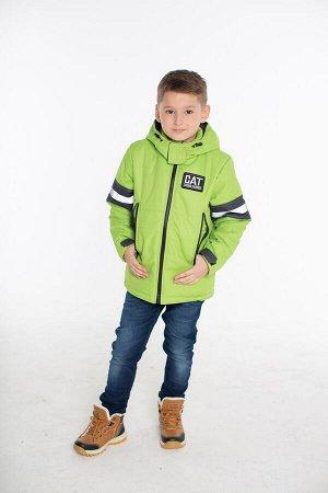 Детская Демисезонная Куртка Джек расцветка Лайм