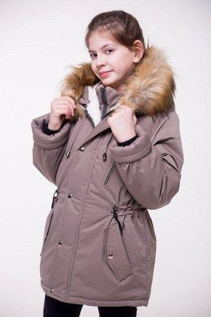 Детская Зимняя Куртка-Парка расцветка Олива