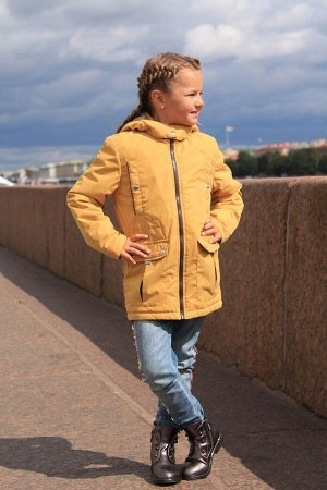 Детская Демисезонная Куртка Сюзет расцветка Горчица