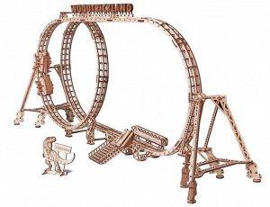 Механическая сборная модель из дерева Wood Trick Большие Американские горки