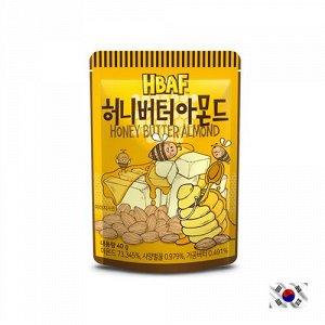 HBAF Honey Butter Almond 40g - Корейские орешки медовое масло