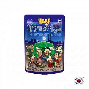 HBAF Cheongyang Mayo Almond 40g - Корейские орешки острый Чили и майонез. Очень острые