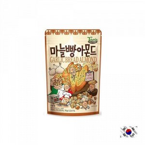 HBAF Garlic Bread Almond 40g - Корейские орешки чеснок и сухарики
