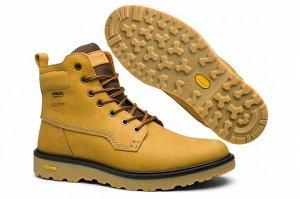 Мужские ботинки, желтые