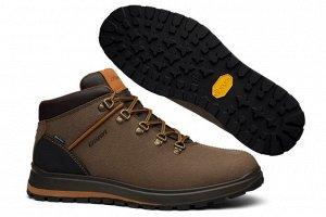 Ботинки мужские, коричневые