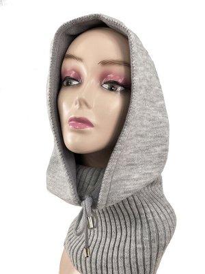 Капор женский, цвет серый