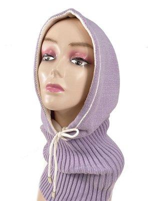 Капор женский, цвет нежно фиолетовый