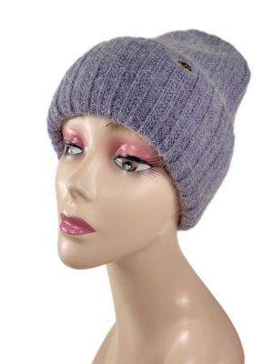 Шапка женская, цвет фиолетовый