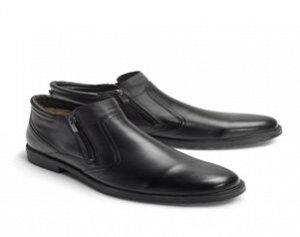 Ботинки зимние мужские, черная кожа
