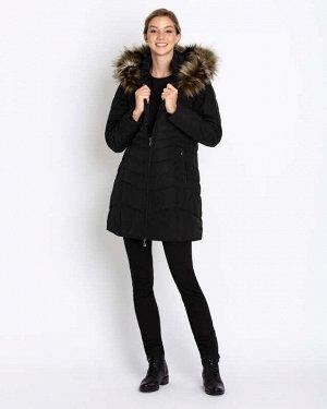 RP Пальто Описание    К холодам готовы! Съемный мех Двухсторонняя молния  Стеганое дизайнерское пальто от немецкого бренда Rita Pfeffinger с капюшоном, отороченным съемным экомехом. Спереди за