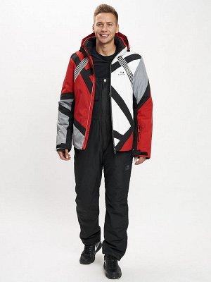 Горнолыжный костюм мужской красного цвета 077015Kr