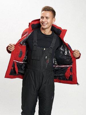 Горнолыжная куртка мужская красного цвета 77019Kr