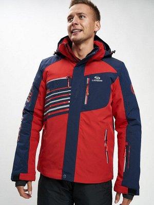 Горнолыжная куртка мужская красного цвета 77012Kr