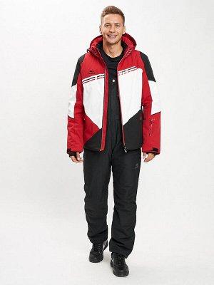 Горнолыжный костюм мужской красного цвета 077016Kr