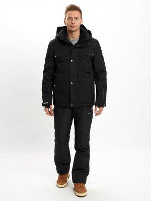 Горнолыжный костюм мужской MTFORCE черного цвета 02088Ch