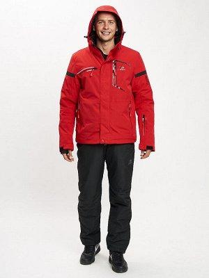 Горнолыжный костюм мужской красного цвета 077014Kr
