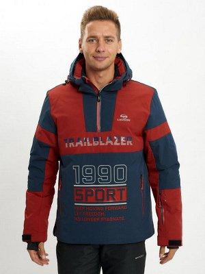 Горнолыжная куртка анорак мужская красного цвета 77024Kr