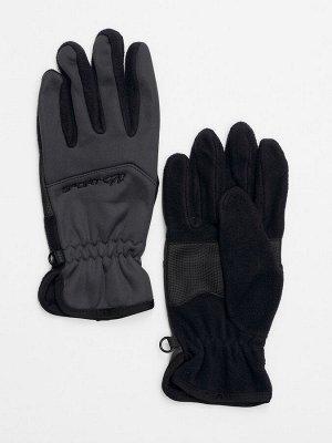Перчатка спортивная мужская темно-серого цвета 619TC